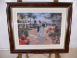 Flower Seller - Wooden Frame with Glass Front